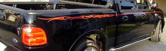 Ford F Series Harley Davidson Style Flame Decal Decals Kit