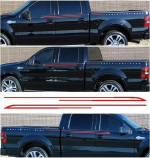Custom stripe decal decals made to fit Ford 07 F-150 Harley Davidson