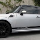 Mini Cooper S JCW skirt Stripes Stripe Decals decal