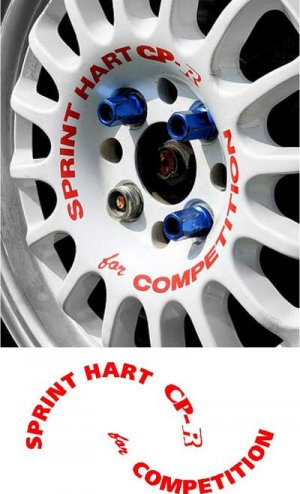 5 Sprint Hart CP-R Rota track JDM wheel wheels decal decals