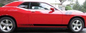 08 09 10 Dodge Challenger rocker strobe decal decals