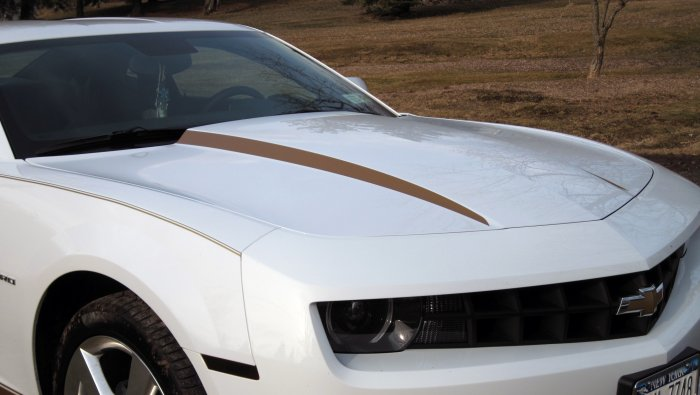 Hood Cowl decal decals stripes spears fits 2010 Camaro