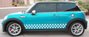 Star side body decal decals graphics fits Mini Cooper