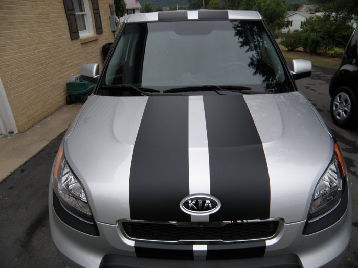 2010 Kia Soul Dual 10 Quot Rally Racing Stripe Decal Decals