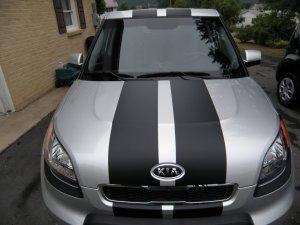 "2010 Kia Soul dual 10"" rally racing stripe decal decals"