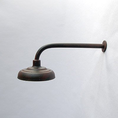 L-Shaped / 90º Lamp / Light for Large / G-Scale Model Train Layout Buildings - Weathered