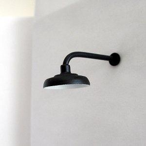 L-Shaped / 90º Lamp / Light for Large / G-Scale Model Train Layout Buildings - Black