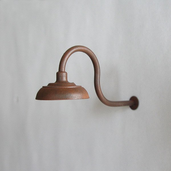 Gooseneck Lamp / Light for Large / G-Scale Model Train Layout Buildings - Weathered