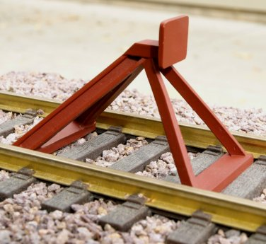 G-Scale Model Train Hayes-Style End-of-Track Bumper