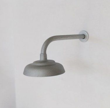 L-Shaped / 90º Lamp / Light for Large / G-Scale Model Train Layout Buildings - Galvanized