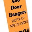 500 Door Hangers 14PT Double Sided UV Coated Full Color Custom