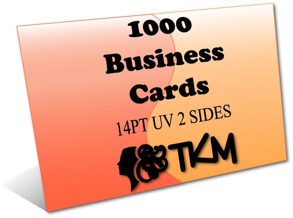 1000 Business Cards 14PT Double Sided UV Coated Custom