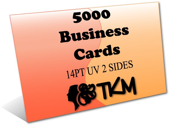 5000 Business Cards 14PT Double Sided UV Coated Custom