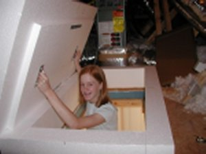 Save Energy, Insulation with an Attic Ladder Access Cover