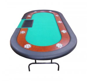 Texas Holdem Poker Table With Dealer Tray and Cup Holders