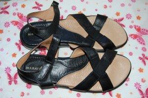 New Maravilla Alex Black Leather Size 10 W Comfort Sandals Womens Shoes