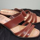 Callisto 8 W Womens Leather Brown Mules Sandals Heels Shoes