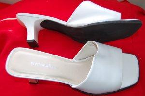 Naturalizer Sz 9.5 White Dressy Sandals Womens Heels Shoes