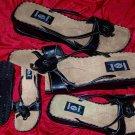 LEI Size 7 Black Toe Thong Sandals Flip Flops Womens Shoes