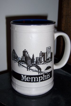 Memphis Collectible  Pyramid Blues Tall Coffee Mug