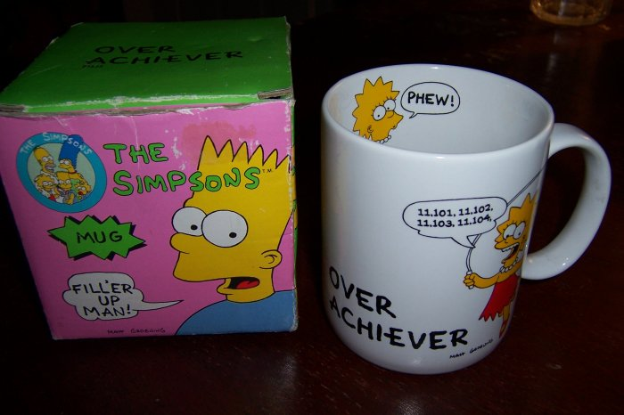 Maggie The Simpsons Over Achiever Collectible Coffee Mug
