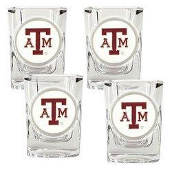 NCAA 4pc Shot Glass Set - Texas A&M