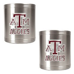 NCAA 2pc Stainless Can Holder Set - Texas A&M