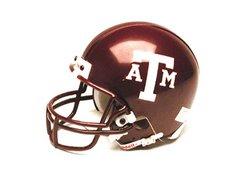 Miniature Replica NCAA Helmet w/Z2B Mask  - Texas A&M