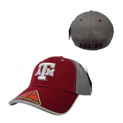 "NCAA """"Pocket Mesh Flex"""" Baseball Cap -Maroon - L/XL - Texas A&M"