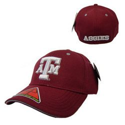 "NCAA """"Dobby Flex"""" Baseball Cap - Maroon - S/M - Texas A&M"
