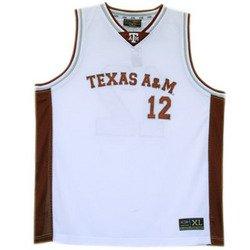 Basketball Jersey - White - XL - Texas A&M