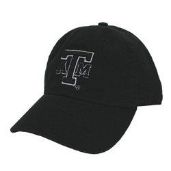 Campus Fitted Cap - Black - M - Texas A&M