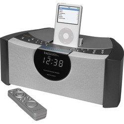 White SmartSet® Clock Radio With iPod® Dock - Emerson
