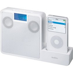 2.0 Portable Audio Docking System For iPod® - White - ArtDio