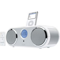 Stereo iPod® Dock With Dual Alarm Clock System - White - iLuv