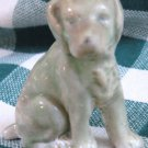 "Vintage Green Pottery Dog ""JAPAN"""