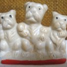 "Vintage 3 Scottie Dogs ""Japan"" Figurine ."