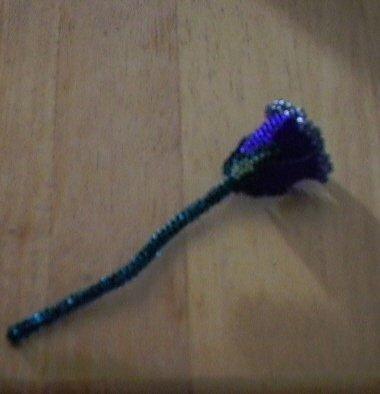 beaded rose native made beading flower
