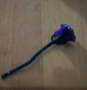 beaded rose native made beading flower