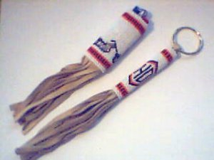 beaded key chain and lighter set