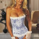 9001 - Stunning Floral Tapestry Strapless Corset