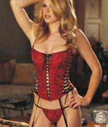 9015 - Two-Tone Roses Brocade Lace-up Corset