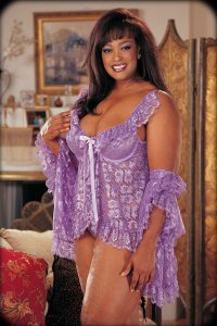 X2596 - Soft Regal Lace Baby Doll