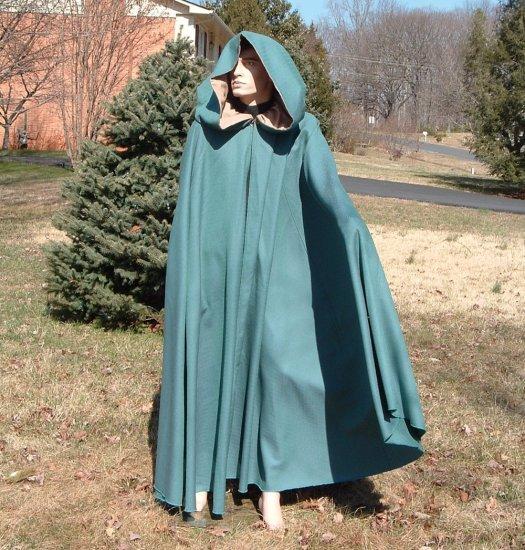Full Circle Hooded Wool Cloak - Wicca - Civil War - LARP - Pagan - Fantasy