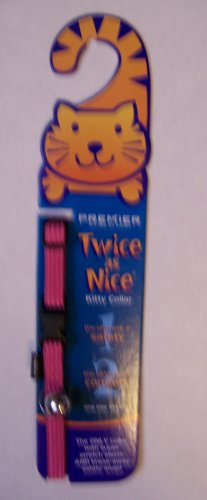 Premier Twice As Nice Break-Away Kitty Cat Collar Dusty Rose