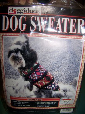 DoggiDuds Dog Sweater Mosaic Size 22