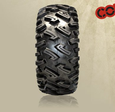 "26"" GBC DIRT COMMANDER TIRES & ITP SS108 BLACK TIRE & WHEEL KIT"