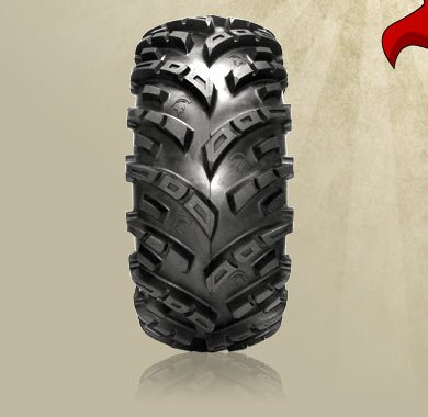 "26"" GBC SPARTACUS TIRES & ITP SS108 BLACK TIRE & WHEEL KIT"