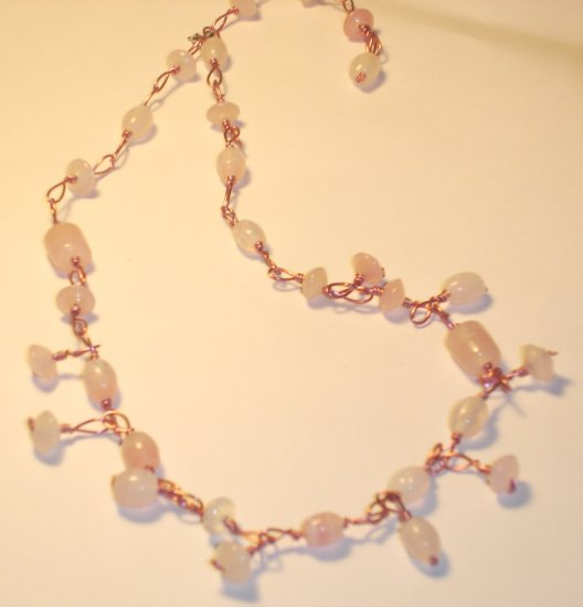 Dangling necklace - Pink