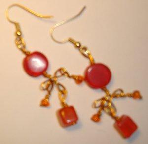 Playful earrings - Orange